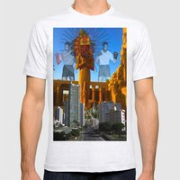 SUNCITY Mens Fitted Tee Ash Grey SMALL