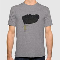 chance of precipitation Mens Fitted Tee Athletic Grey SMALL