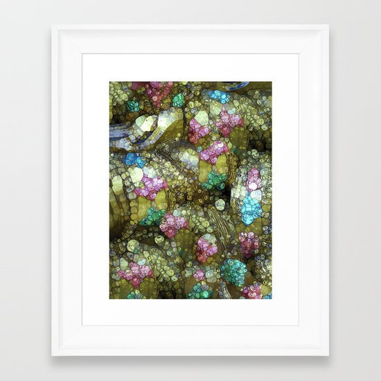 Gems, Glitter & Gold Framed Art Print