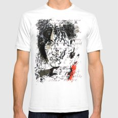PATTI  SMITH SMALL White Mens Fitted Tee