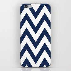 Navy Chevron iPhone & iPod Skin