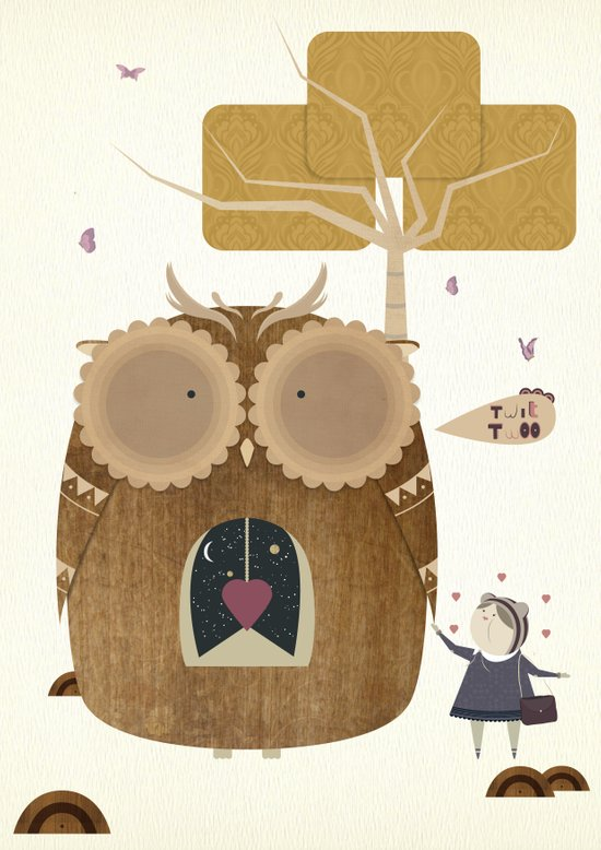 My Owl and Me Canvas Print