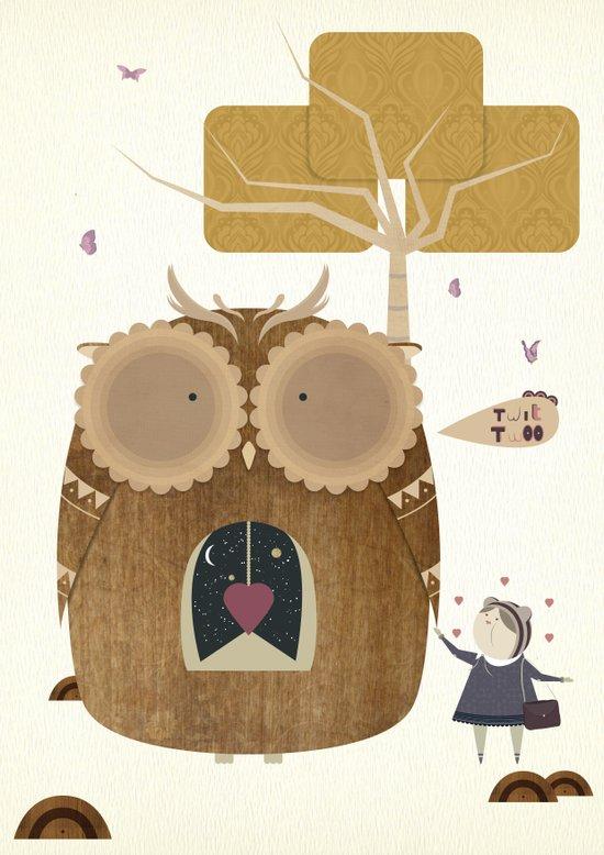 My Owl and Me Art Print