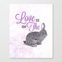 Love is in the hare. Canvas Print