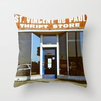 Vinnie was here Throw Pillow