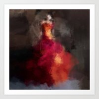 Fire dress Art Print