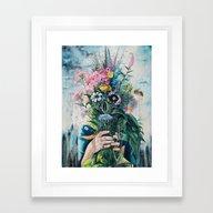 Framed Art Print featuring The Last Flowers by Tanya Shatseva