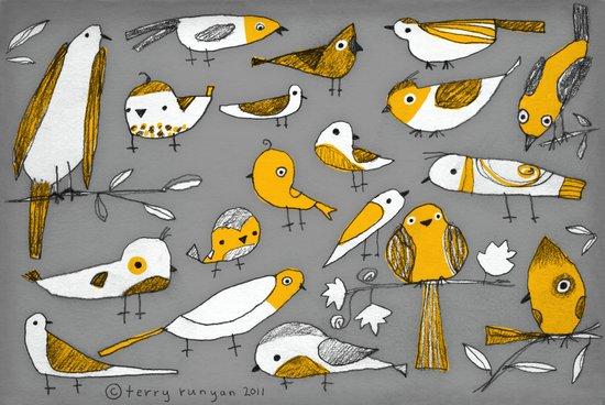 BIRD BUNCH Canvas Print