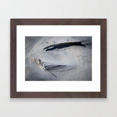 silent conversation Framed Art Print