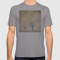 Snow Bokeh Wonderland  Mens Fitted Tee Athletic Grey SMALL