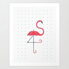 The Pink Umbrella Art Print