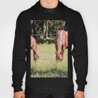 Horses Feeding In A Fiel… Hoody