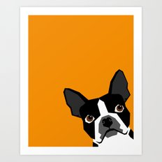 Peeking Terrier funny dog art customizable gift for dog lovers dog person must haves Art Print