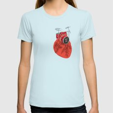 Beat of Life Womens Fitted Tee Light Blue SMALL