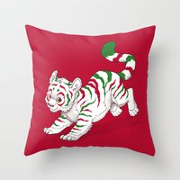 Candy Tiger Throw Pillow
