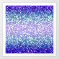 Glitter Graphic Background G105 Art Print