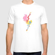 jump jump jump! jumping down! Mens Fitted Tee SMALL White