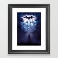 A Storm Approaches Framed Art Print