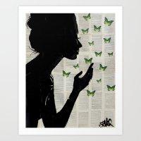 SIMPLICITY (Green) Art Print
