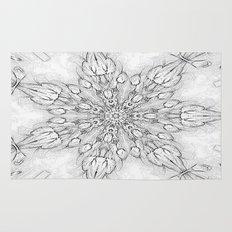 Gray Snowflake Rug