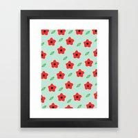 Poppies & Leaves Framed Art Print