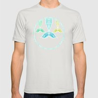 Mermaids and Stripes Mens Fitted Tee Silver SMALL