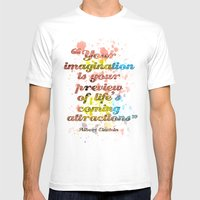 Imagination / Albert Ein… Mens Fitted Tee White SMALL