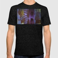 DropArt collage Mens Fitted Tee Tri-Black SMALL