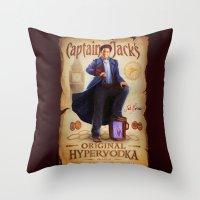 Captain Jack's Original Hypervodka Throw Pillow