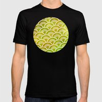 Boucle Pattern Mens Fitted Tee Black SMALL