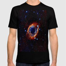 Helix Nebula Black Mens Fitted Tee SMALL
