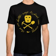 Coal Pirate Mens Fitted Tee Black SMALL