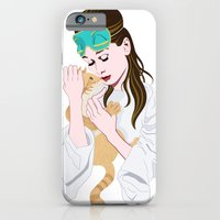 Holly Golightly's cat / Audrey Hepburn iPhone 6 Slim Case