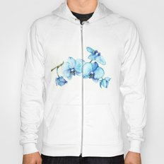 Blue Orchids - Watercolor Hoody