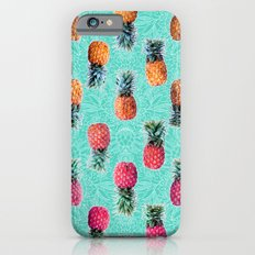From Pineapple to Pink - tropical doodle pattern on mint Slim Case iPhone 6s