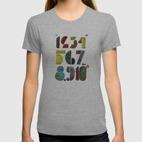 1 2 3 4 5 6 7 8 9 10 decimal numbers - by Genu WORDISIAC™ TYPOGY™ Womens Fitted Tee Athletic Grey SMALL