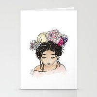 Flower Crown Clara Stationery Cards
