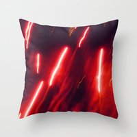 Crimson rockets Throw Pillow