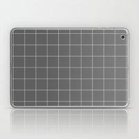 Grey And White Grid Laptop & iPad Skin
