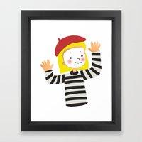Le Mime Framed Art Print