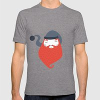 Beard Mens Fitted Tee Tri-Grey SMALL