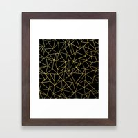 Abstraction Outline Gold… Framed Art Print