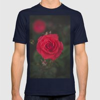Red Rose Mens Fitted Tee Navy SMALL