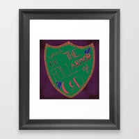 His Armor Framed Art Print