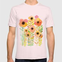 Peony Field Mens Fitted Tee Light Pink SMALL