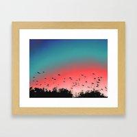 Birds Flying High Framed Art Print