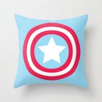 America Pastel Throw Pillow