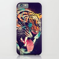 iPhone Cases featuring FEROCIOUS TIGER by dzeri29