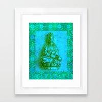 Jade Kwan Yin Framed Art Print