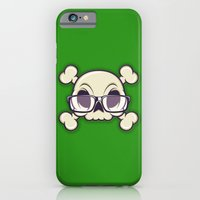 iPhone & iPod Case featuring Nerd Skull by CranioDsgn